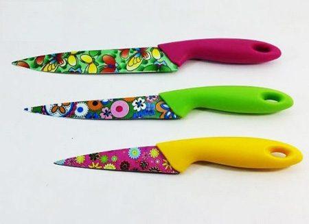 ست چاقو رنگی گل