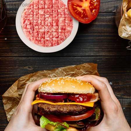 همبرگر زن دستی